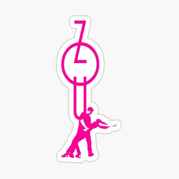lets dance zouk - pink Sticker
