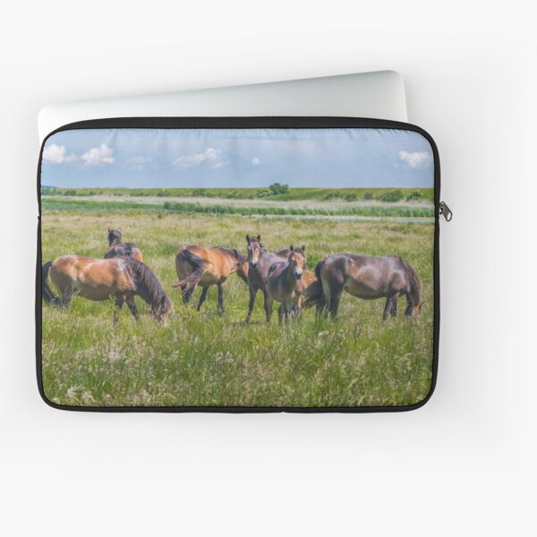 Wild horses enjoying Danish summer Laptop Sleeve