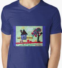 Needlework Mens V-Neck T-Shirt