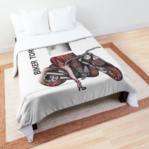 BIKER TORNADO by FrankenDuo Comforter