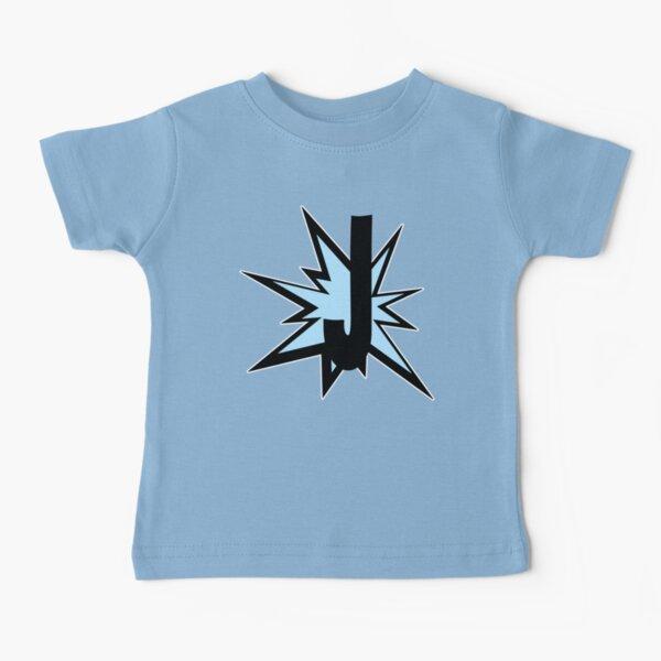 Alphabet letter J as comic cartoon monogram initials - typography Baby T-Shirt