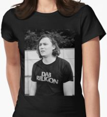 """Brian Sella (The Front Bottoms) """"Dab Religion"""" Womens Fitted T-Shirt"""