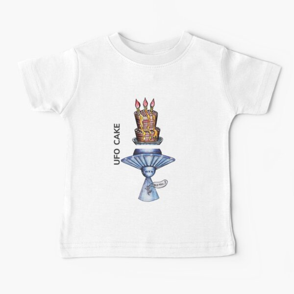 UFO CAKE by FrankenDuo steel blue Baby T-Shirt