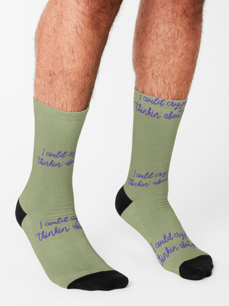 Alternate view of I Could Cry Just Thinkin' Bout You - Troye Design Socks