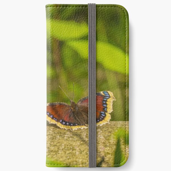 Butterfly in the forest: enchanting Mourning cloak iPhone Wallet