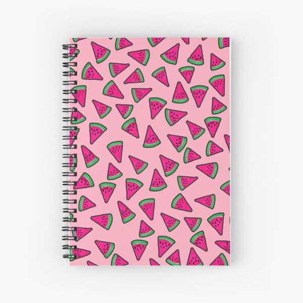 Watermelon Slices on Pink Spiral Notebook