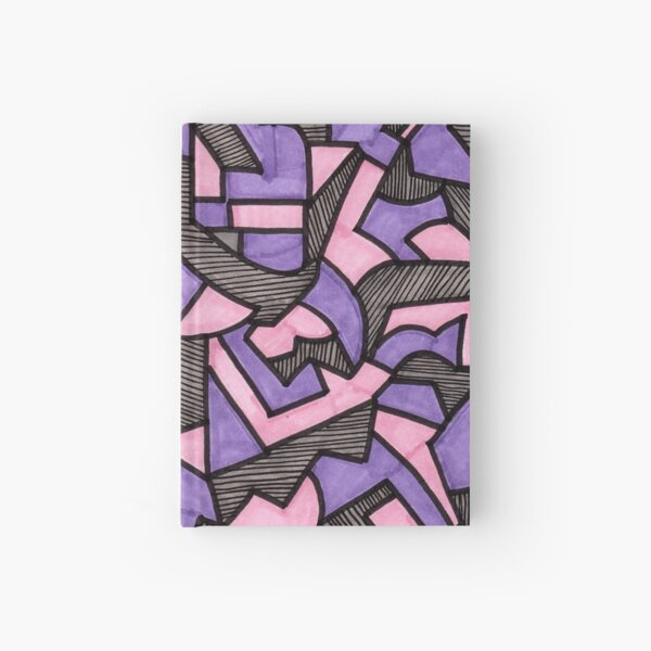 Stained Glass Geometric Pattern in Lavender and Pink Hardcover Journal