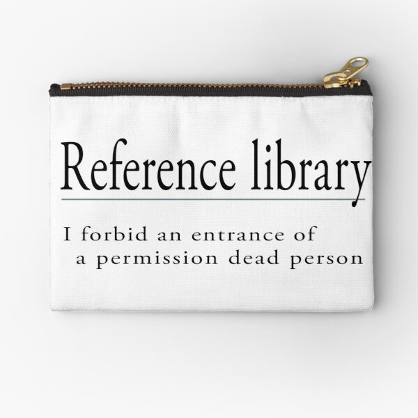 Reference Library Zipper Pouch