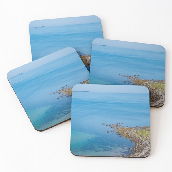 Coastlines frame the blue sea Coasters (Set of 4)