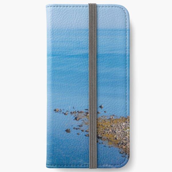 Coastlines frame the blue sea iPhone Wallet