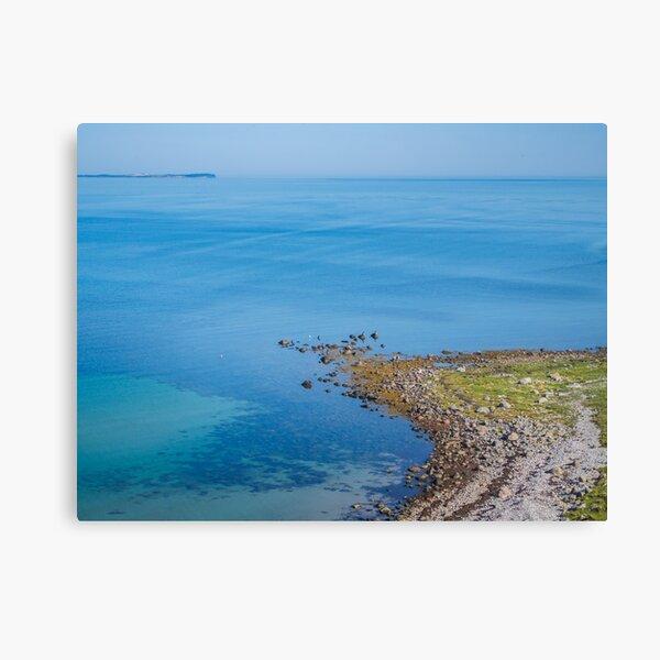 Coastlines frame the blue sea Canvas Print