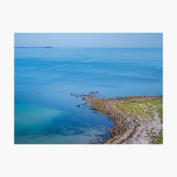 Coastlines frame the blue sea Photographic Print