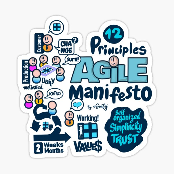 Agile Manifesto principles Sticker