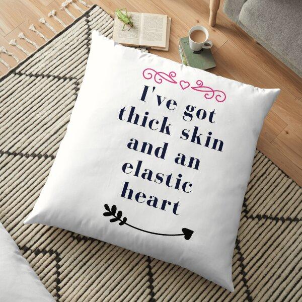 Thick skin elastic heart Floor Pillow