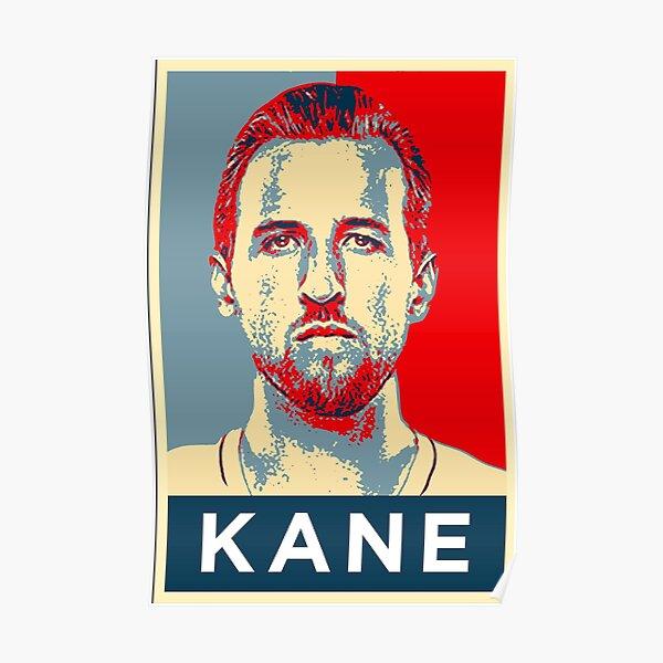 Harry Kane Portrait Artwork Poster