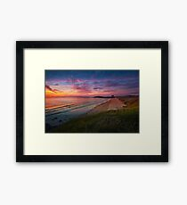 Beach Sunset, Fistral Beach Framed Print