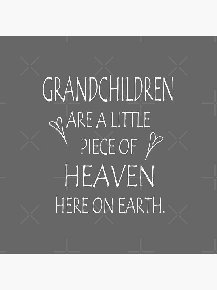 Grandchildren pillow - grandma pillow - grandchildren a piece of heave - grandchildren and heaven by katceeshoppe