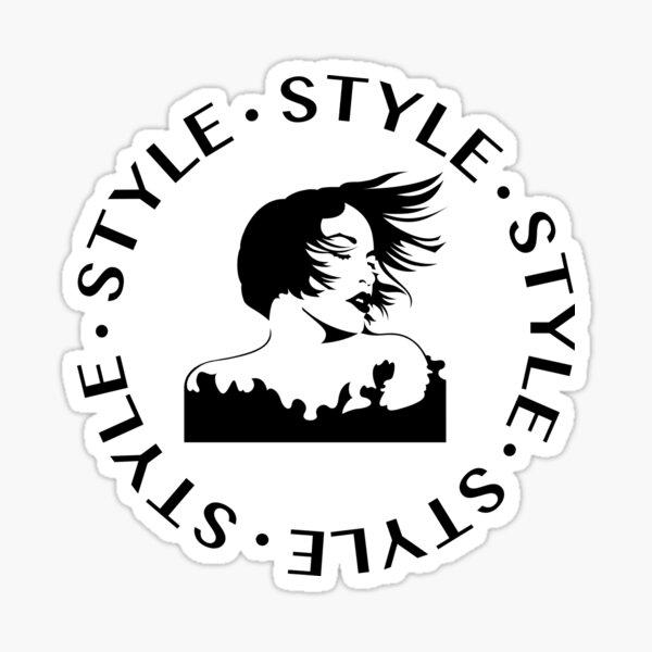 Style fashion design portrait Sticker