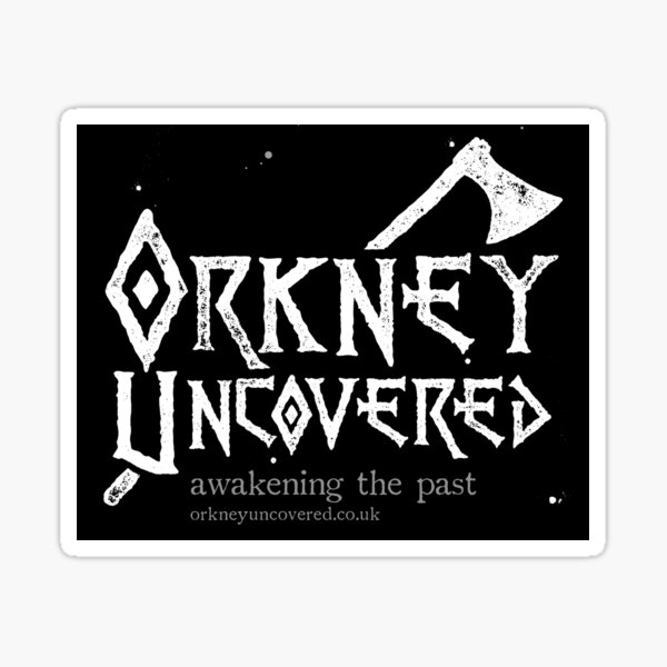 Orkney Uncovered Axe Sticker