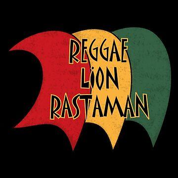 Reggae Lion Rastaman by mamza