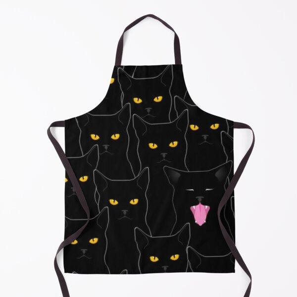 Suspicious Cats pattern Apron