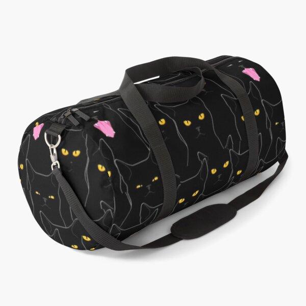 Suspicious Cats pattern Duffle Bag