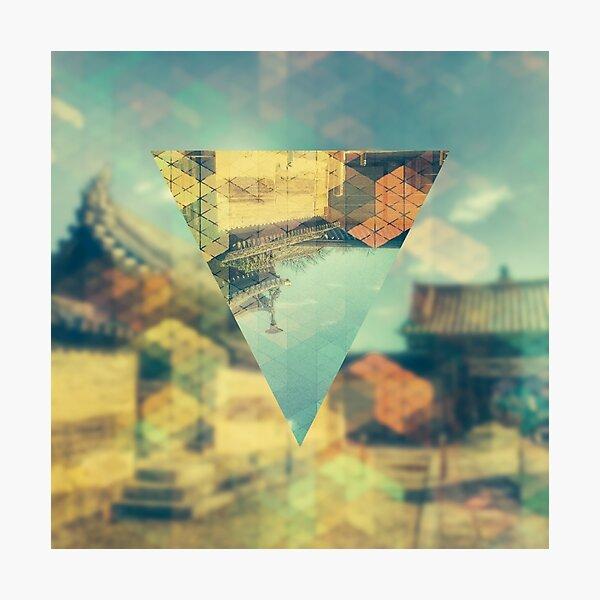 Ancient Temple Nara Japan Geometric Abstract Diamond Pattern Photographic Print