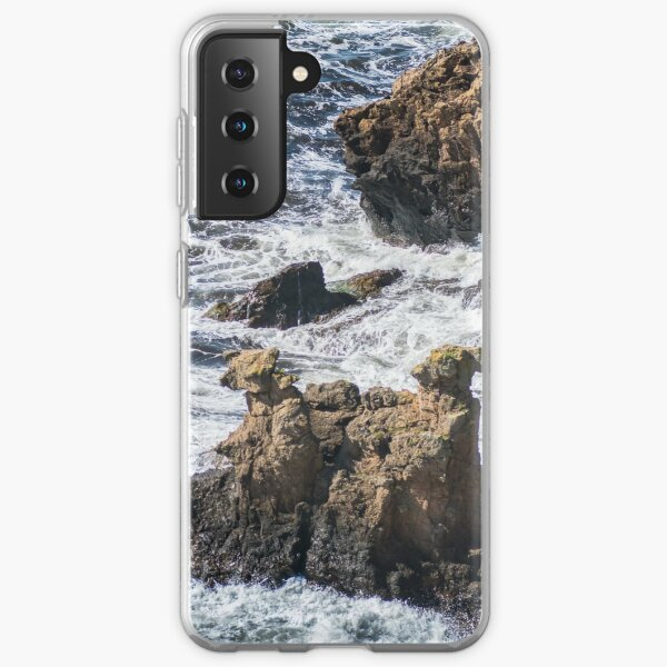The Camel Cliffs during storm and high waves Samsung Galaxy Soft Case