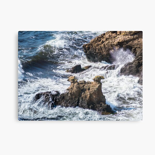 The Camel Cliffs during storm and high waves Canvas Print