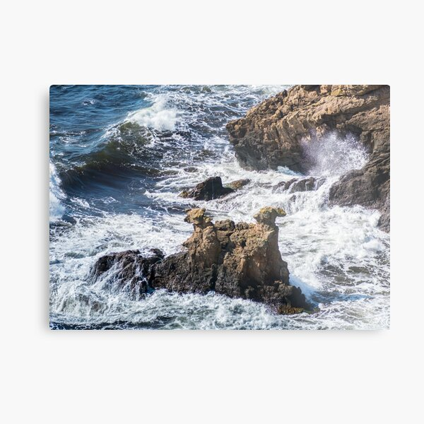 The Camel Cliffs during storm and high waves Metal Print