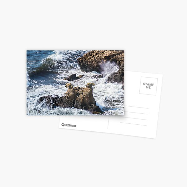 The Camel Cliffs during storm and high waves Postcard