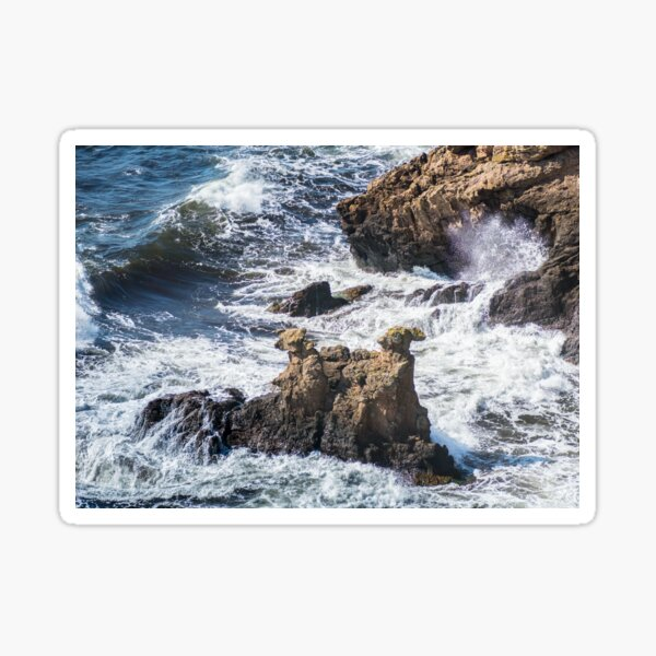 The Camel Cliffs during storm and high waves Sticker