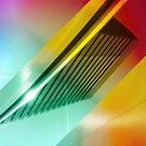 Colorful Modern Building Urban City Abstract Geometric Gradation by Beverly Claire Kaiya
