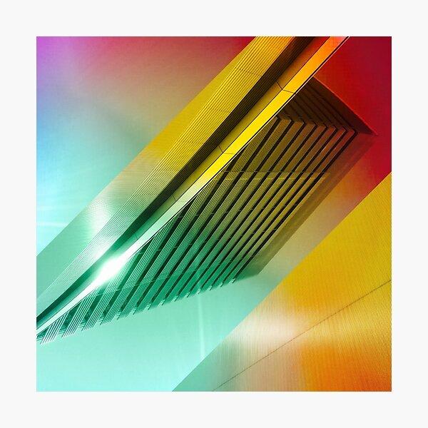 Colorful Modern Building Urban City Abstract Geometric Gradation Photographic Print