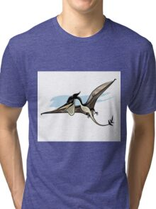 Illustration of a Pteranodon dinosaur. Tri-blend T-Shirt