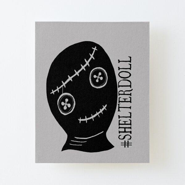 #SHELTERDOLL Schrift - Charity, soziales Projekt, Feminismus, Aufgezogener Druck auf Leinwandkarton