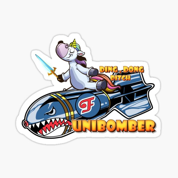 Unibomber Unicorn  Sticker