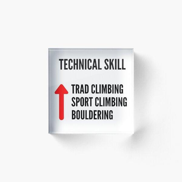 Trad Climbing Technical Skill Acrylic Block