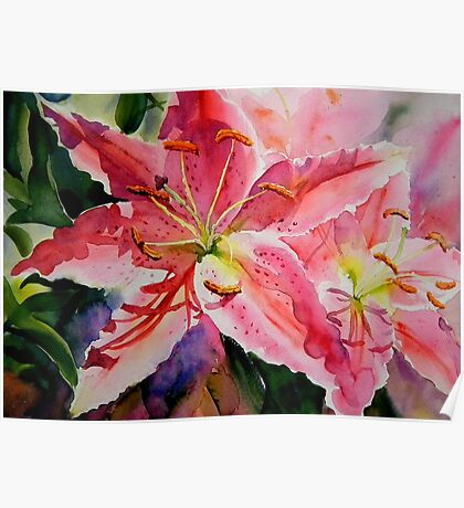 Birthday Lilies Poster
