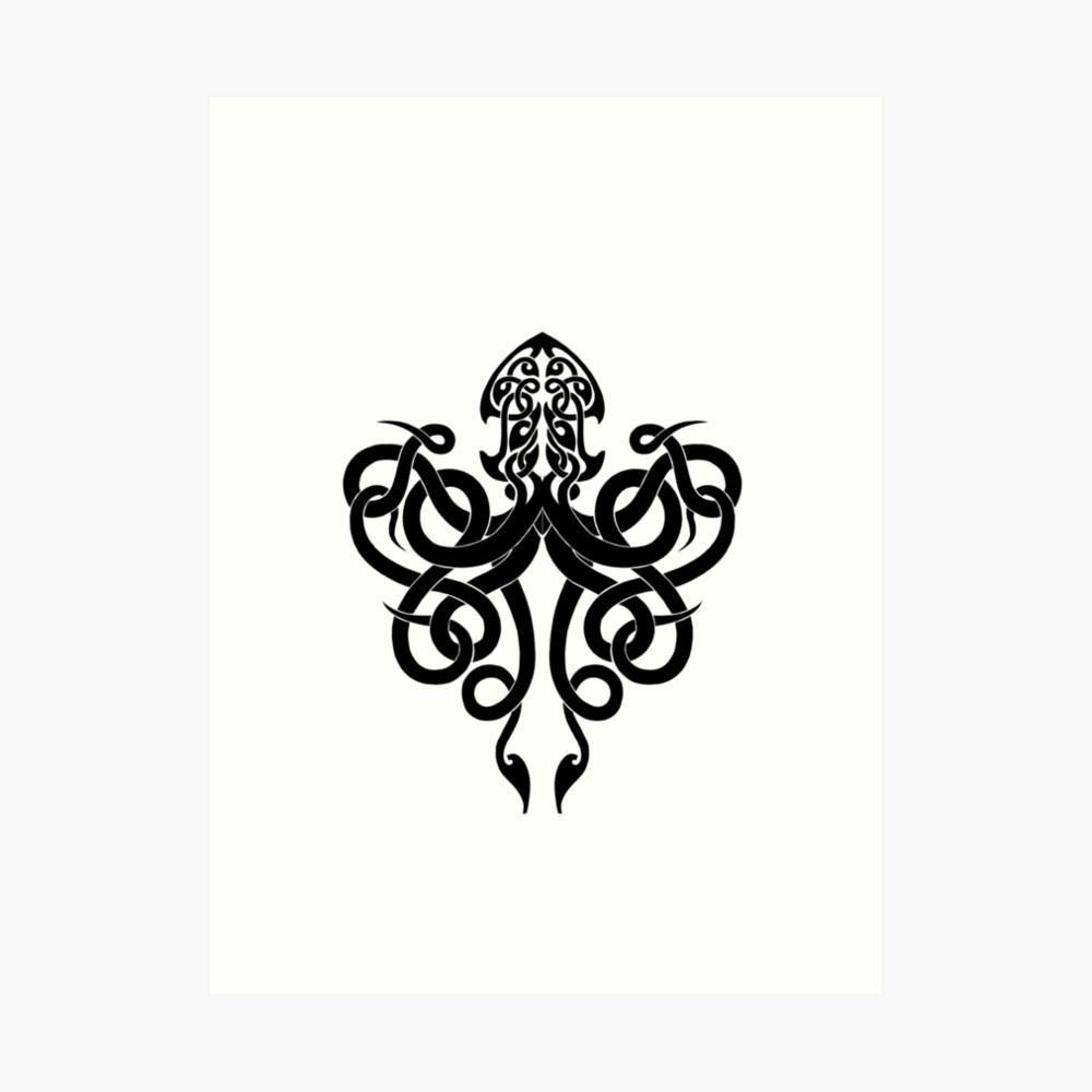 Kraken Logo Art Print