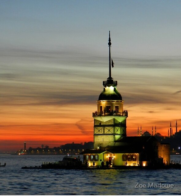 The Maiden Tower, Istanbul, Turkey by Zoe Marlowe