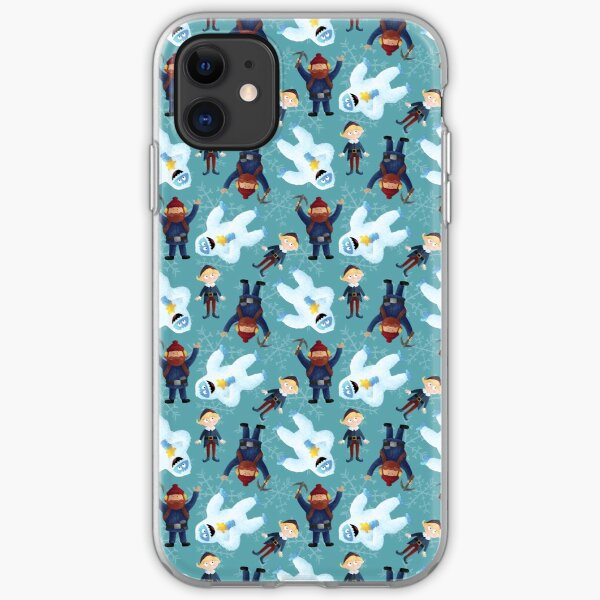 Yukon, Hermey and the Bumble in Teal iPhone Soft Case