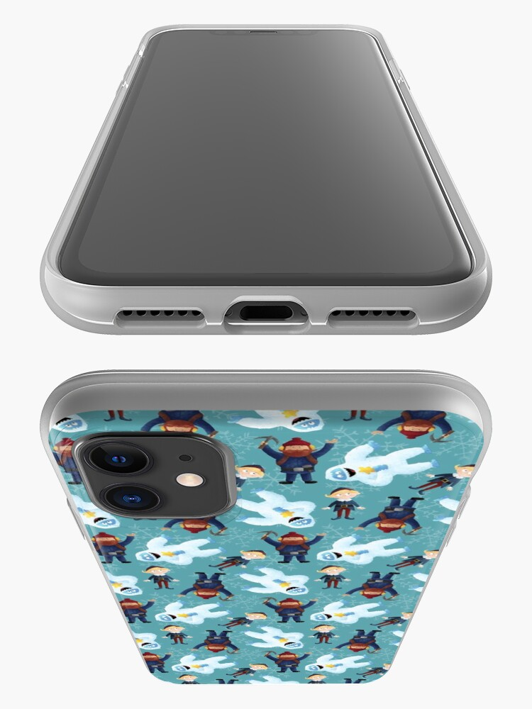 Alternate view of Yukon, Hermey and the Bumble in Teal iPhone Case & Cover