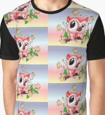 A Pretty Pink Owl Graphic T-Shirt