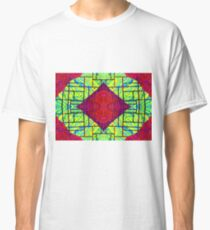 Psychedelic Abstract colourful work 21(Tile) Classic T-Shirt