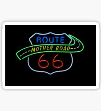 Route 66 Mother Road Neon Sign Sticker