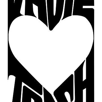 V-Hope Trash - BTS Typography Logo (Black) by Dandimator