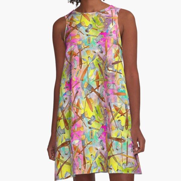 Art Supplies!  A-Line Dress