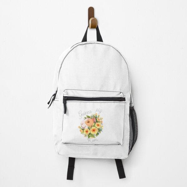 Floral Guinea Pig Mom Backpack
