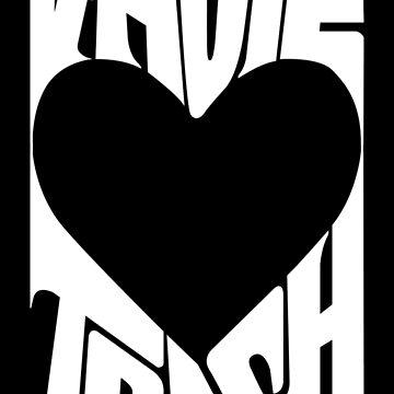 V-Hope Trash - BTS Typography Logo (White) by Dandimator